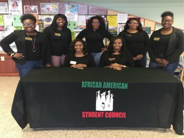 Officers of the African American Student Council include: (front row, left to right) Aja Buckhalter, Selena Trotter, (back, l to r) Ashley Blackburn, Letia McGee, Symmbol Sanderlin, Veronica Suggs and Alandria Ramsey.