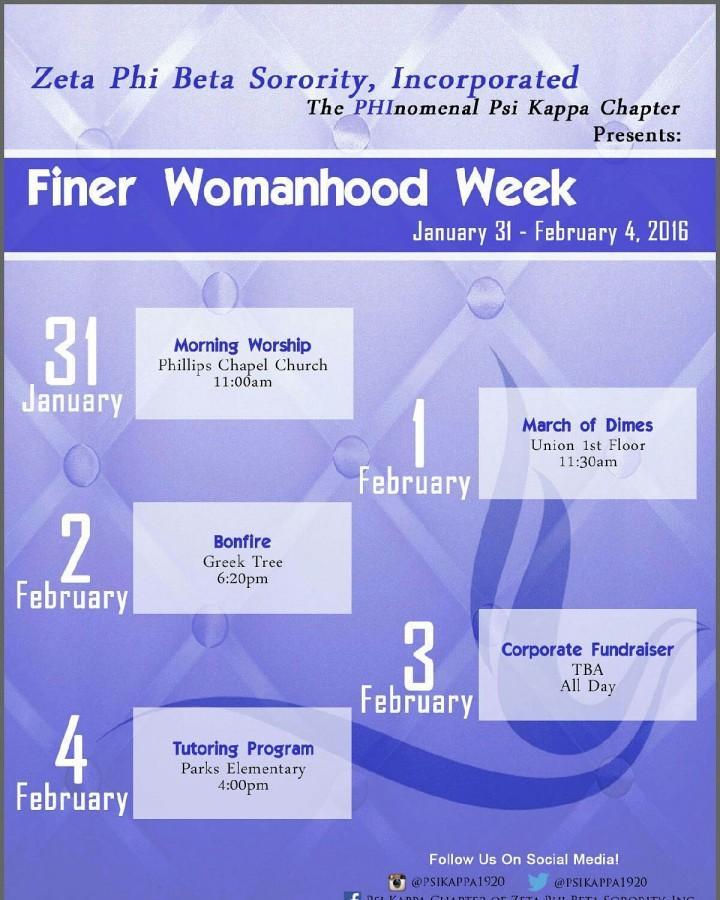 Zetas Embrace  Finer Womanhood Week