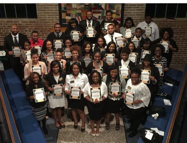 Photo of Members of AASC at their spring induction ceremony.