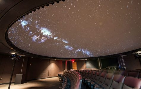 A view of the new planetarium from the theater room.