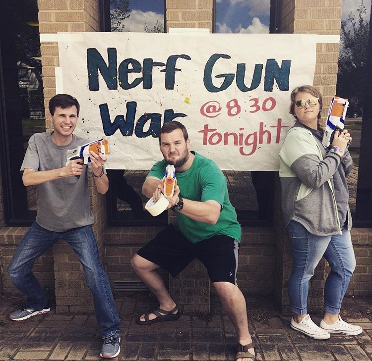 Nerf+War+at+the+Baptist+Student+Union