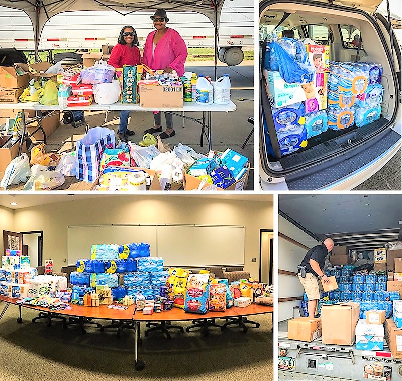 Some of DSU Donations for Hurricane Harvey Victims.
