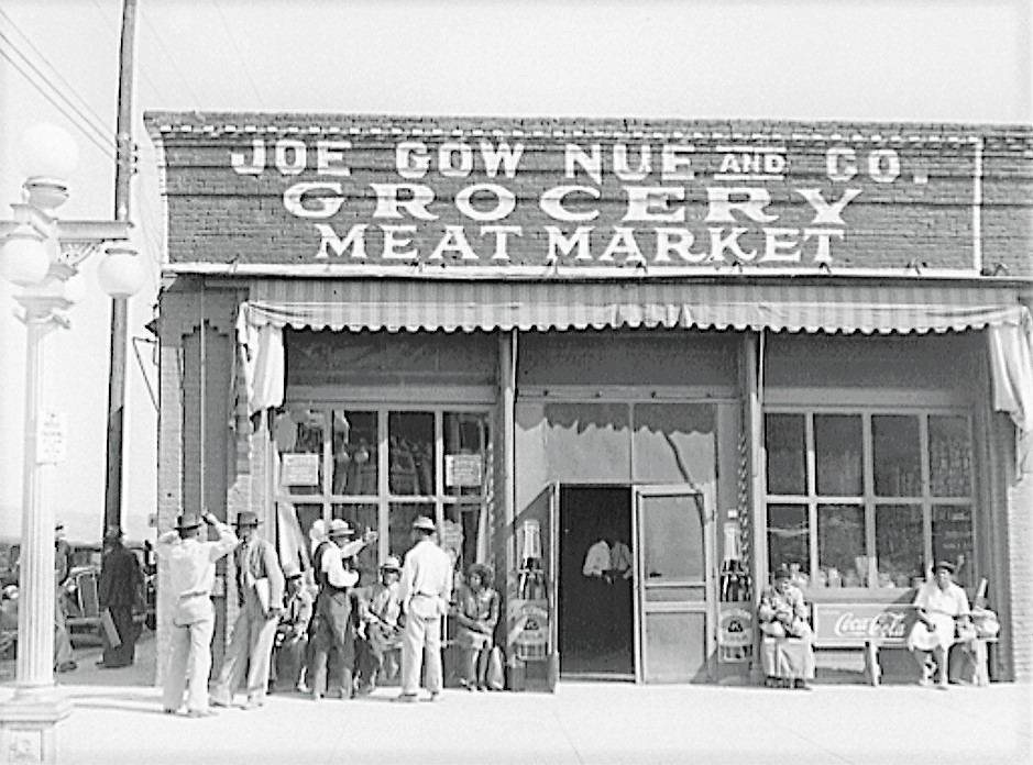 Joe Gow Nue Grocery Store in Greenville, Mississippi, 1930s