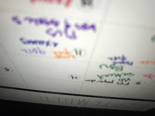 Even when you have everything written neatly, sometimes it's still a blur.