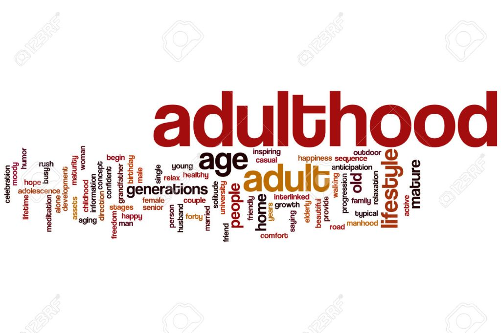Adulthood word cloud concept