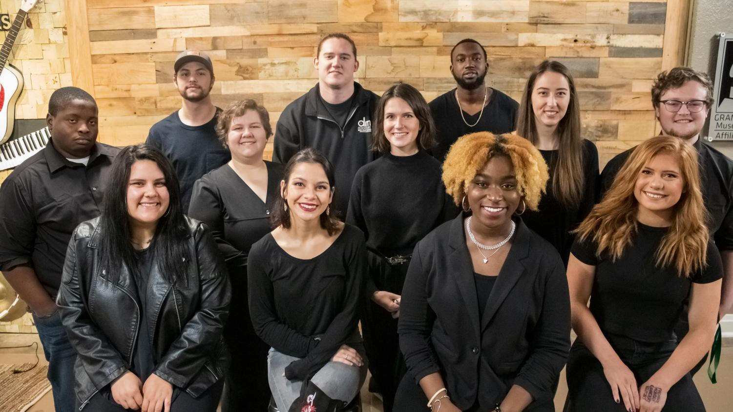 Picture of 2019 Delta Music Institute All-Stars' 12 band members. Hannah is the one on the far right front row. (Pic from Delta State website)