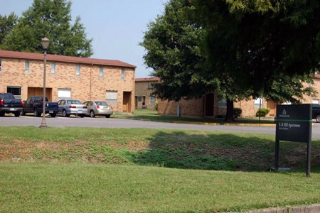 The E.B. Hill / Canal Apartment Complex  Photo Creds: DSU Housing Department Website