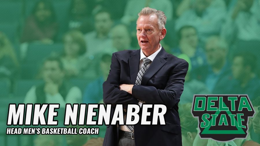 Coach Mike Nienaber takes over as the 2019-2020 Delta State Men's Basketball Program. Matt Jones/Delta State Athletic Program