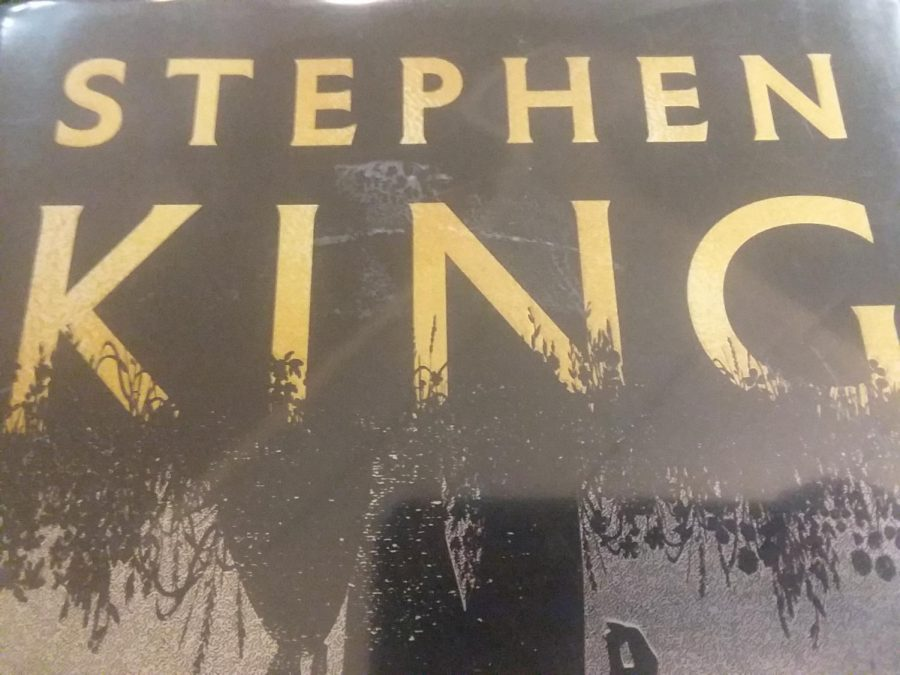 Photo of Stephen King's name on one of his published books.
