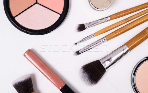 This is a picture of different tools for makeup.