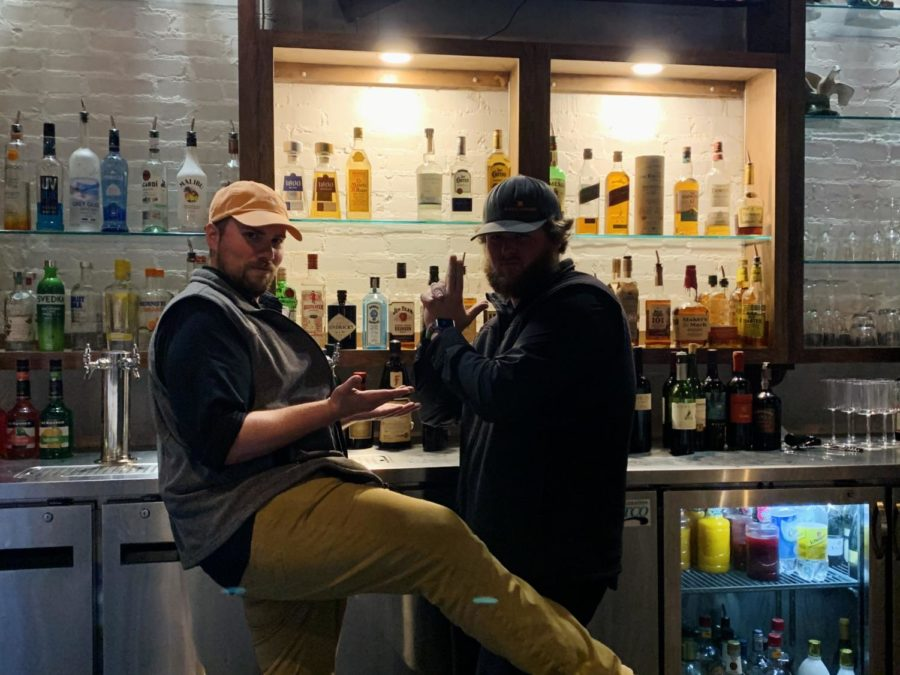 The life of two bartenders are pretty entertaining, especially when working with your bestfriend. (Logan Callow, left and Jon Gore, right)